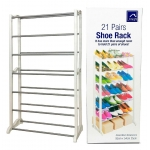 21 Pairs Shoe Rack In White