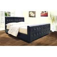 Dakar PU Leather Bed Frame, Double 4'6""