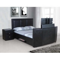 Galactic PU Leather TV Bed Frame, Super King size 6'