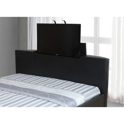 galactic pu leather tv bed frame super king size 6 39. Black Bedroom Furniture Sets. Home Design Ideas