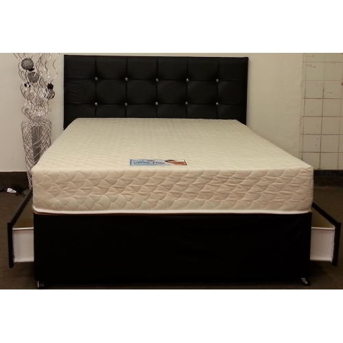 President all memory foam divan set for Memory foam divan