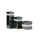 Set of 3 black diamante candle holders