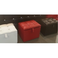 Diamante Leather Storage Ottomans 