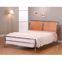 Solar Chrome Bed Double, 4'6""